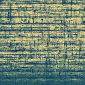 Old texture with delicate abstract pattern as grunge background. With different color patterns: yellow (beige); blue; cyan
