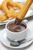 foto of churros  - churros and hot chocolate - JPG