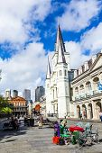 St. Louis Cathedral In The French Quarter In New Orleans