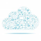 Cloud computing. Icons set vector illustration.
