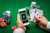 pic of poker hand  - casino - JPG