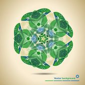 Abstract Circular Green Pattern With Space For Text