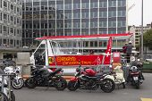 Tourist Sightseeing Bus In Geneva