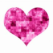 Abstract Heart With Bright Mosaic Pattern