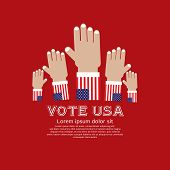Vote for election vector illustration concept.