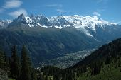 Mont Blanc And Chamonix In Alps In France