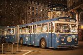 Christmas Bus In Zurich