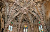 Interior Of Monastery Of Batalha In Portugal