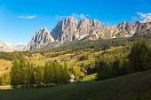 Mountain Panorama in Dolomites, Cortina d'Ampezzo, Italy