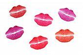 Kisses on paper