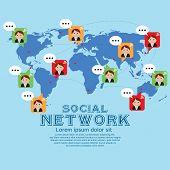 Social Network Vector Illustration Conceptual.