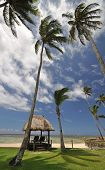 image of beach hut  - The tranquil beaches of the South Pacific Ocean really are paradise found - JPG