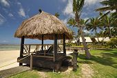 pic of beach hut  - The tranquil beaches of the South Pacific Ocean really are paradise found - JPG