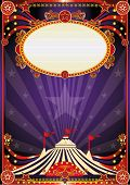 Purple fantastic circus background. A vintage circus background with sunbeams for your entertainment