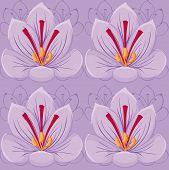 seamless Violet background.saffron flowers.