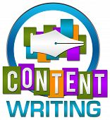 Content Writing Colorful Circle Stripes