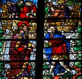 Saint Peter Is Called By Jesus - Stained Glass In Rouen Cathedral