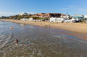 Sunny weather  brought visitors and surfers to Bournemouth on the Dorset coast to enjoy winter sun