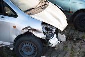 Close-up Of Car Wreck