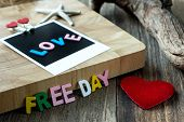 Love Freeday Message On Blank Instant Photo
