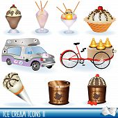 picture of ice-cream truck  - A collection of ice cream icons - JPG