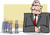 People At Bank Cartoon Illustration