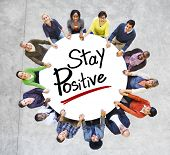 Aerial View People Community Stay Positive Optimistic Concepts
