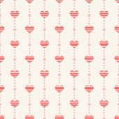 Abstract Seamless Pattern With Pink Hearts.