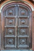 Historical door in Moscow