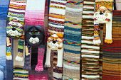 Scarves, like a cat's head