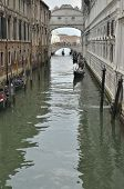 Gondolas At The Bridge Of Sighs
