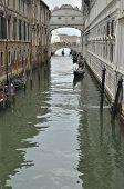 Gondolas At The Bridge Of Sighs