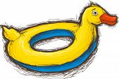 Swim ring duck