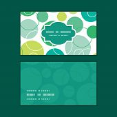 Vector abstract green circles horizontal frame pattern business cards set