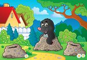 Happy mole theme image 2 - eps10 vector illustration.