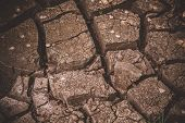 Texture Of Cracked Soil Ground