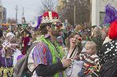 Strange Characters At Mardi Gras