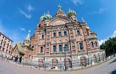 The Church Of The Savior On Spilled Blood Is One Of The Main Sights Of St.petersburg, Russia.