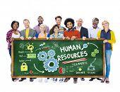 Human Resources Employment Job Teamwork Students Education Concept