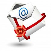An image of an email gift icon.