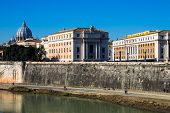View Of The Tiber In Rome, Italy