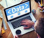 Digital Online Business Data Technology Working Concept