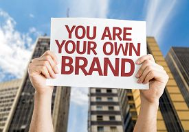 stock photo of urbanization  - You are Your Own Brand card with a urban background - JPG