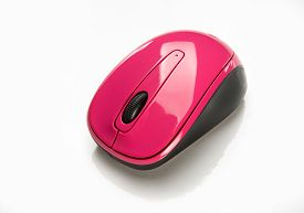 picture of fancy mouse  - Small wireless pink mouse for portable laptop - JPG