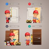 picture of carpenter  - Door Installation Step by Step with Handyman Carpenter - JPG