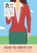 image of recruiting  - Job recruitment concept with business cv resume - JPG