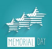 picture of democracy  - Happy Memorial Day blue background poster - JPG