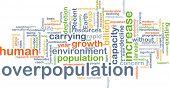 stock photo of overpopulation  - Background concept wordcloud illustration of overpopulation - JPG