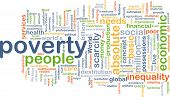 stock photo of poverty  - Background concept wordcloud illustration of poverty - JPG