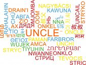 stock photo of uncle  - Background concept wordcloud multilanguage international many language illustration of uncle  - JPG